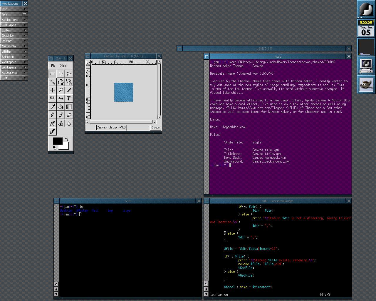Gozer org: Window Maker: Themes